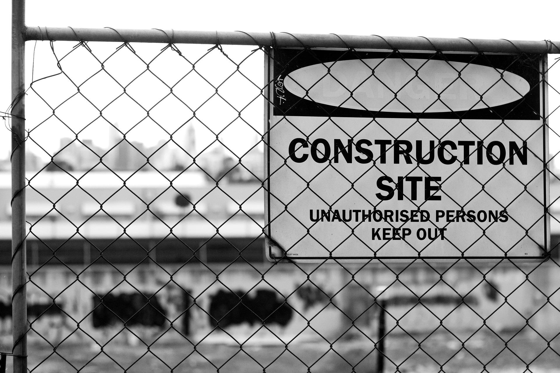 La barrière de chantier